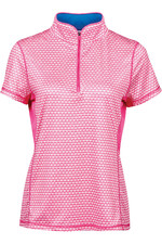 Dublin Womens Kylee Printed Short Sleeve Top - Carmine Pink