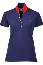 Dublin Womens Lily Cap Sleeve Polo Top - True Navy