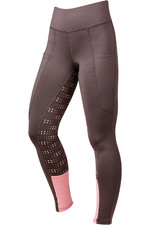 Dublin Womens Performance Cool-It Dot Print Gel Riding Tights - Grey