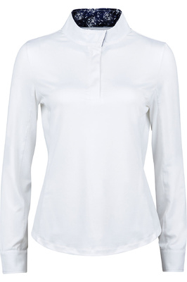 Dublin Womens Ria Long Sleeve Competition Shirt - White / Navy