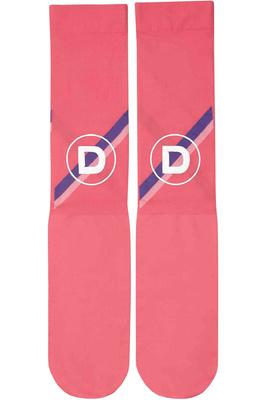 Dublin Womens Team Stripes Stocking Socks Poppy