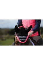 Weatherbeeta Reflective Ear Bonnet Pink 1004917
