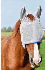 Equilibrium Field Relief Midi Fly Mask With Ears Grey / Blue