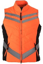 Equisafety Unisex Quilted Gilet - Orange GIL0