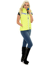 2021 Equisafety Polite Hi Vis Fitted Gilet POL-G - Yellow