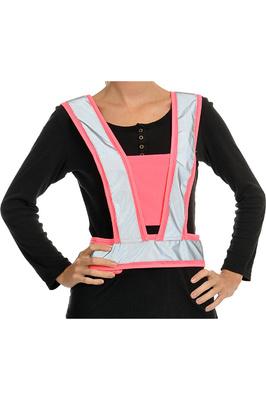 Equisafety Childrens Reflective Hi Vis Adjustable Body Harness Pink