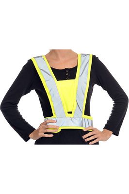 Equisafety Adult Reflective Hi Vis Adjustable Body Harness Yellow