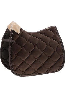 Eskadron Velvet Fauxfur Saddle Pad - Brown