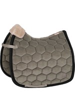 Eskadron Velvet Saddle Pad - Ivory Grey