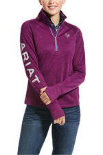 Ariat Womens Tek Team 1/2 Zip Sweatshirt - Imperial Violet Heather