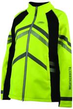 Weatherbeeta Adults Reflective Softshell Fleece Lined Jacket Hi Vis Yellow 1005271