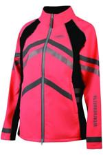 Weatherbeeta Adult  Reflective Softshell Fleece Lined Jacket Hi Vis Pink 1005271