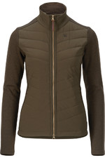 Harkila Womens Retrieve Insulated cardigan - Dark Warm Olive