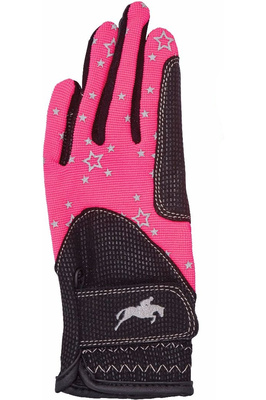 Harry Hall Childrens Roxby Reflective Gloves Pink