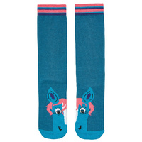 Harry Hall Childrens Twin Pack Tex Novelty Socks Teal