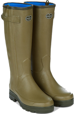 Le Chameau Mens Wellies Chasseur Neoprene Lined Vert Vierzon
