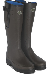 Le Chameau Mens Wellies Vierzon Neoprene Lined Marron Fonce