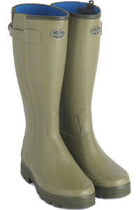 Le Chameau Womens Wellies Chasseur Neoprene Lined Vert Vierzon