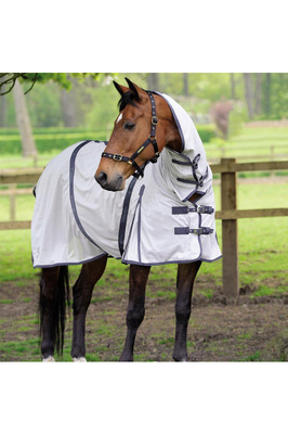 Masta Fly Rug Zing Mesh with Fixed Neck Silver