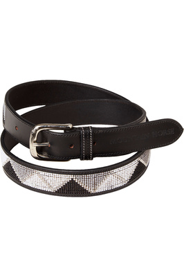 Mountain Horse Womens Glam Bling Leather Belt - Black