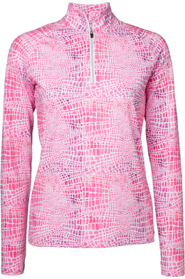 Mountain Horse Womens Rosa Long Sleeve Tech Top - Pink