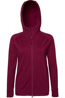 Mountain Horse Womens Laura Tech Fleece Burgundy Melange