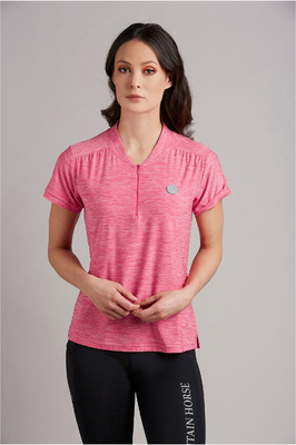 Mountain Horse Womens Sky Tech Tee Pink
