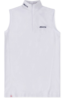 Musto Womens Performance Sleeveless Stock Shirt White