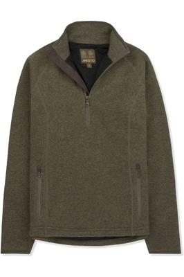 Musto Womens Super Warm Polartec Windjammer Half Zip Fleece Jacket Moss
