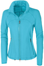 Pikeur Womens Anni Fleece Jacket 5038 - Carribean Sea
