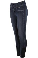 Pikeur Womens Candela Jeans Breeches Denim Spot Navy