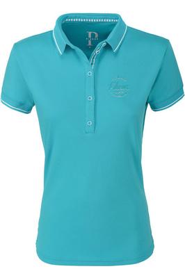 Pikeur Womens Dasha Polo Shirt 5202 - Carribean Sea