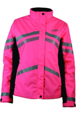 Weatherbeeta Reflective Heavy Padded Waterproof Jacket Hi Vis Pink 1005272