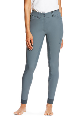 Ariat Womens Tri Factor Grip Full Seat Breeches Weathered Slate