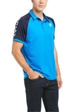 Ariat Mens Team 3.0 Short Sleeve Polo Imperial Blue 10035308
