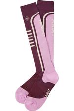Ariat Ariattek Slimline Performance Socks Plum / Violet 10036481
