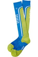 Ariat Ariattek Slimline Perf Socks Blue / Peridt 10036482