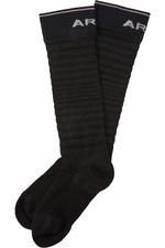 Ariat Adult Ariattek Ultrathin Performance Sock Black / Grey 10036533