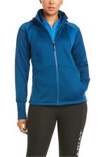 Ariat Womens Wilde Full Zip Sweat Shirt Blue Opal 10034840