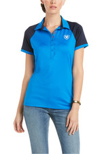 Ariat Womens Team 3.0 Short Sleeve Polo Imperial Blue 10034999