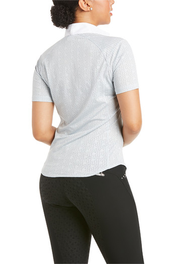 Ariat Womens Showstopper 3.0 Short Sleeve Show Short Shirt Pearl Grey 10035262