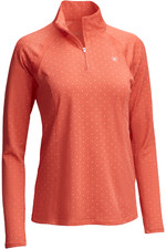 Ariat Womens Sunstopper 2.0 1/4 Zip Cayenne Dot 10035304