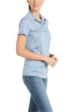 Ariat Womens Talent Short Sleeve Polo Blue Yonder 10035459