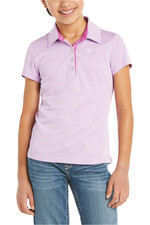 Ariat Youth Laguna Short Sleeve Polo Violet Tulle 10034844