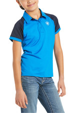 Ariat Youth Team 3.0 Short Sleeve Polo Imperial Blue 10035000