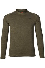 2021 Seeland Mens Base Active Long Sleeve T-Shirt 160209928 - Pine Green