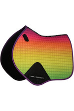 Weatherbeeta Prime Ombre Jump Shaped Saddle Pad - Rainbow Lust