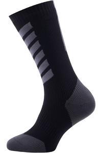 SealSkinz Hiking Mid Mid Socks Black / Anthracite