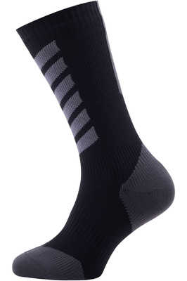 SealSkinz Hiking Mid Mid Socks Black / Anthracite