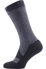 SealSkinz Walking Mid Thin Socks Grey Marl / Black